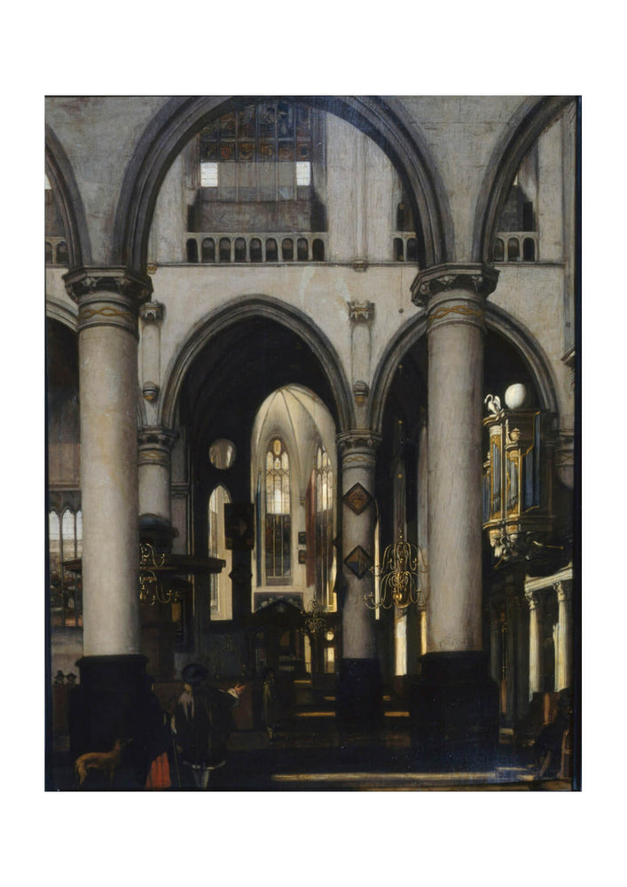 Emanuel de Witte - View of a church Interior