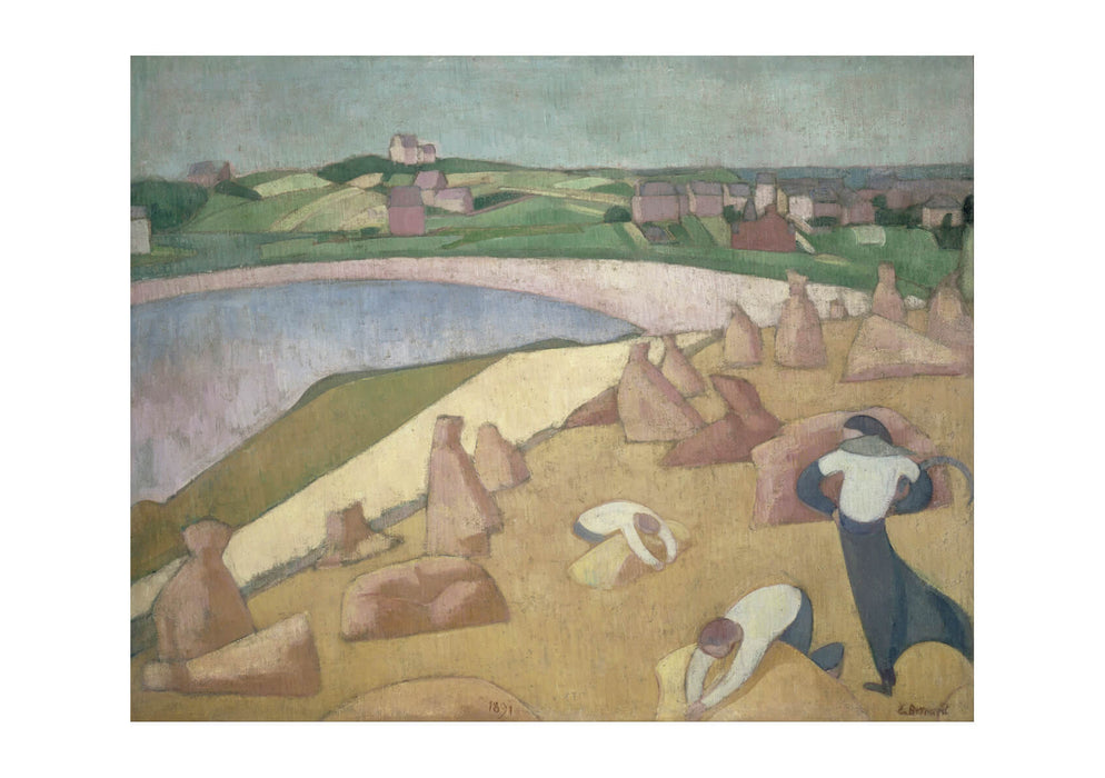 Emile Bernard - Harvest By The Sea