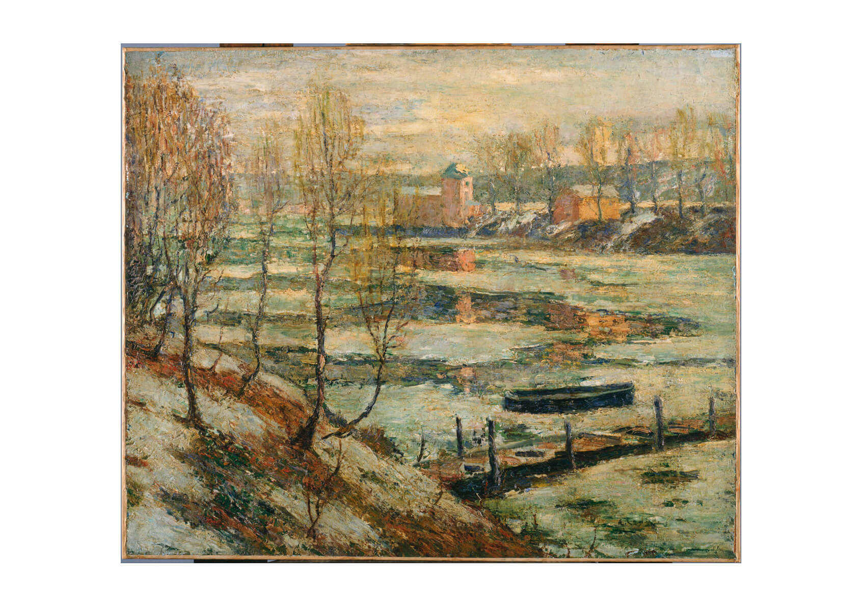 Ernest Lawson - Ice in the River