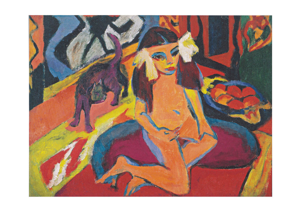 Ernst Ludwig Kirchner - Colourful Girl