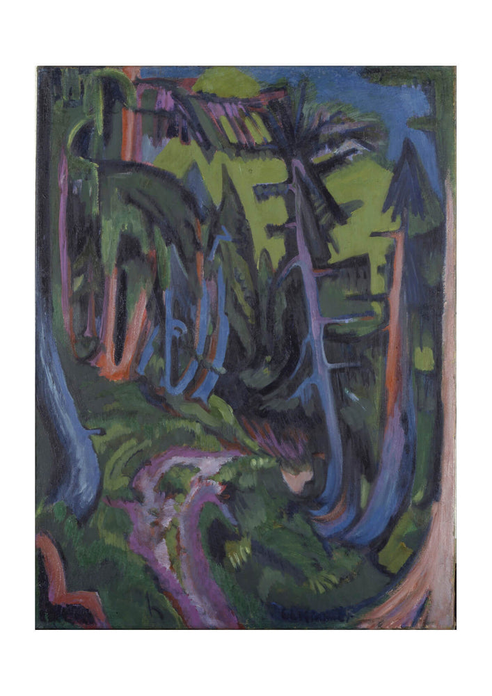Ernst Ludwig Kirchner - Mountain Forest Path