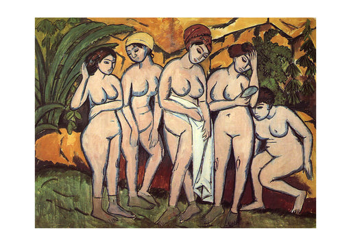 Ernst Ludwig Kirchner Five Bathers At The Lake
