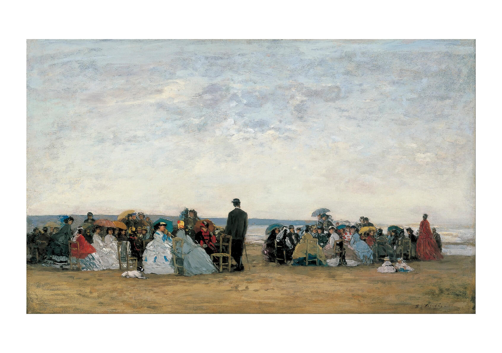 Eugène Boudin - The Beach Near Trouville