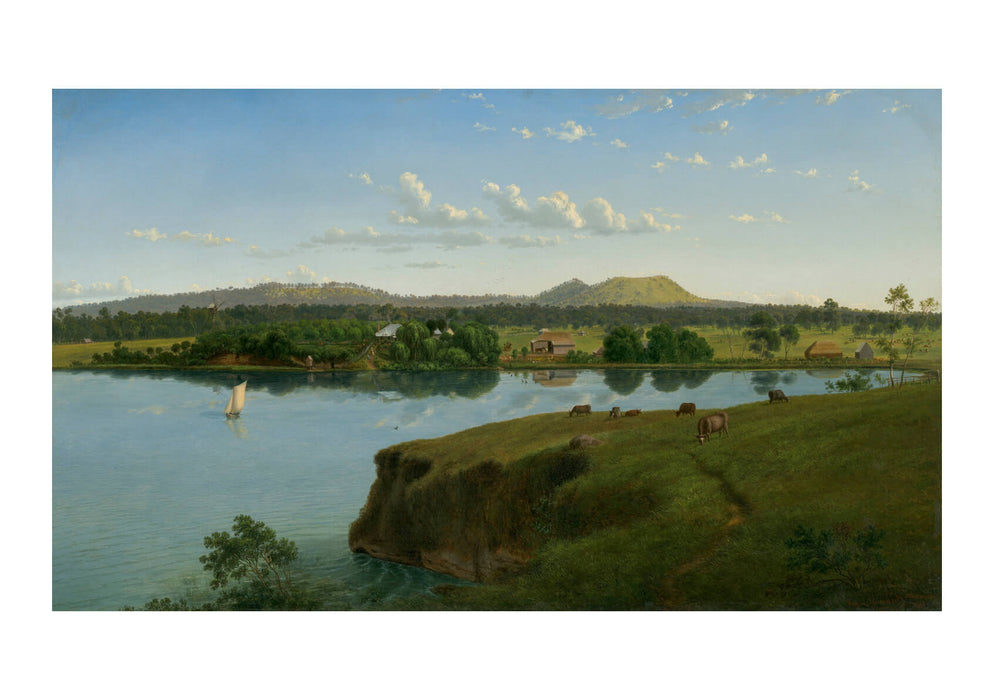 Eugene Von Guérard - Purrumbete From Across The Lake