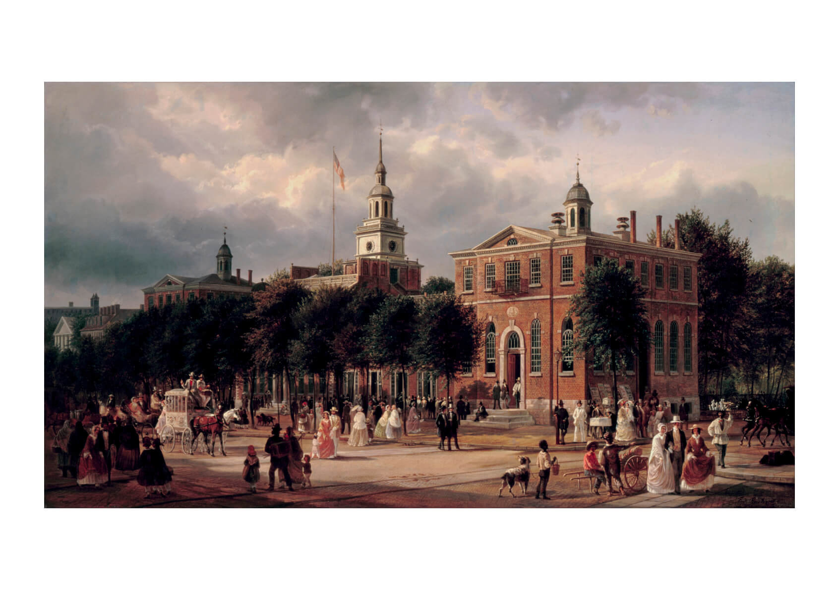 Ferdinand Richardt - Independence Hall In Philadelphia