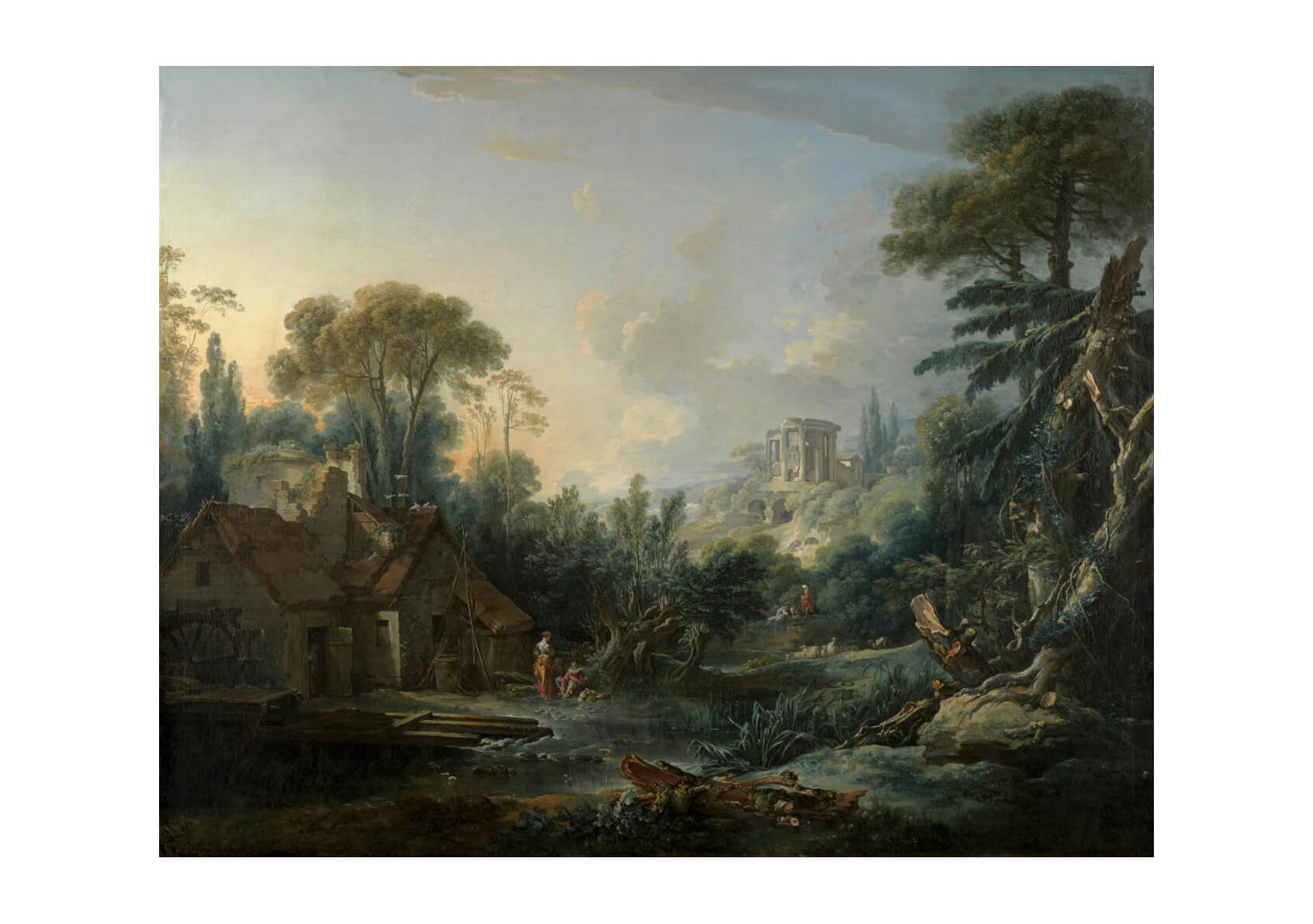 François Boucher - Landscape With A Water Mill