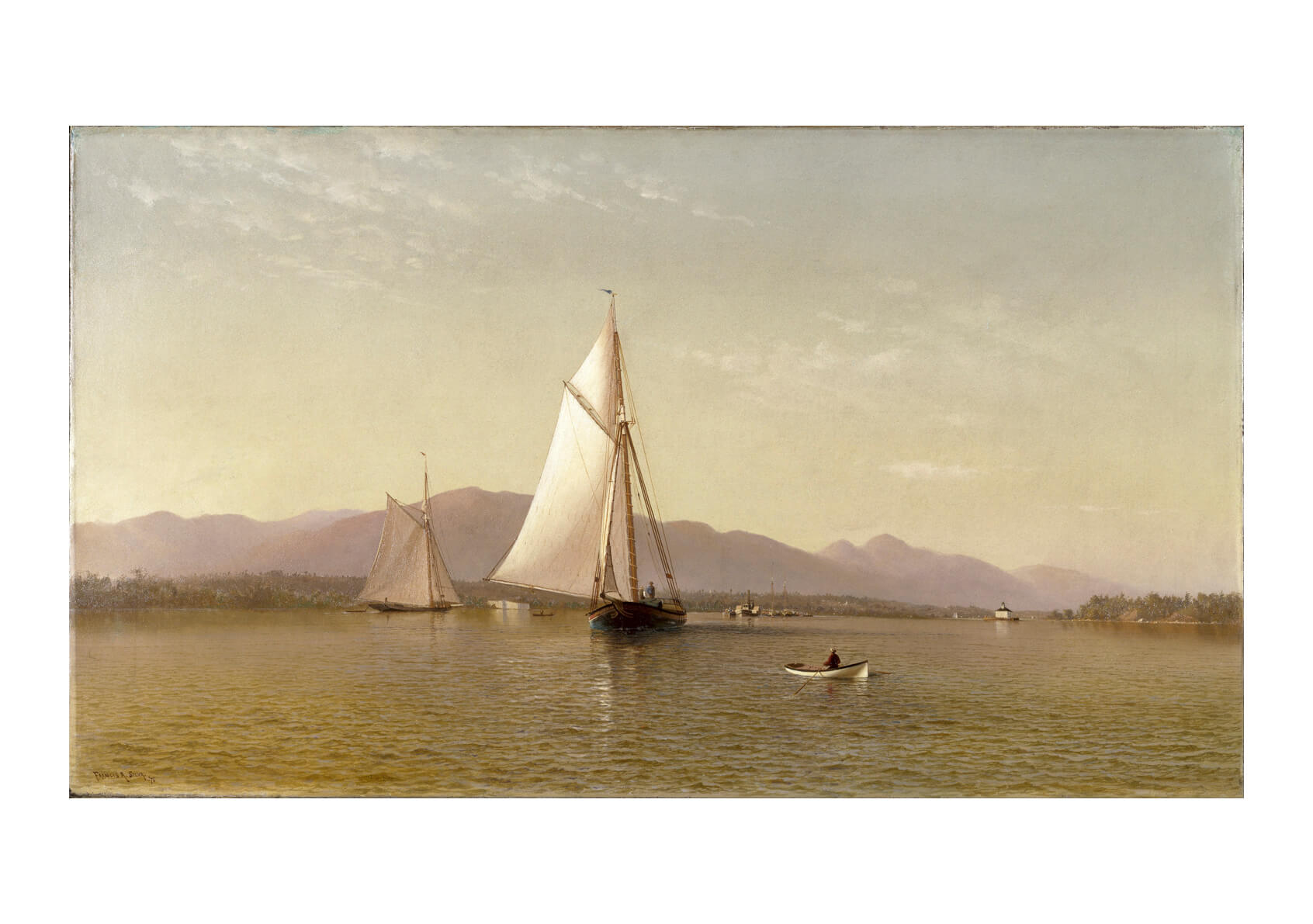 Francis Augustus Silva - The Hudson At The Tappan Zee