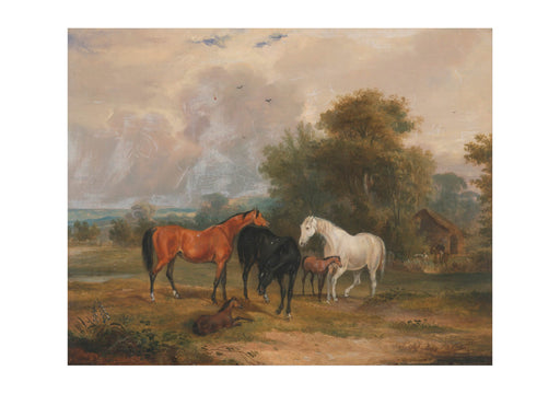 Francis Calcraft Turner - Mares & Foals In A Field