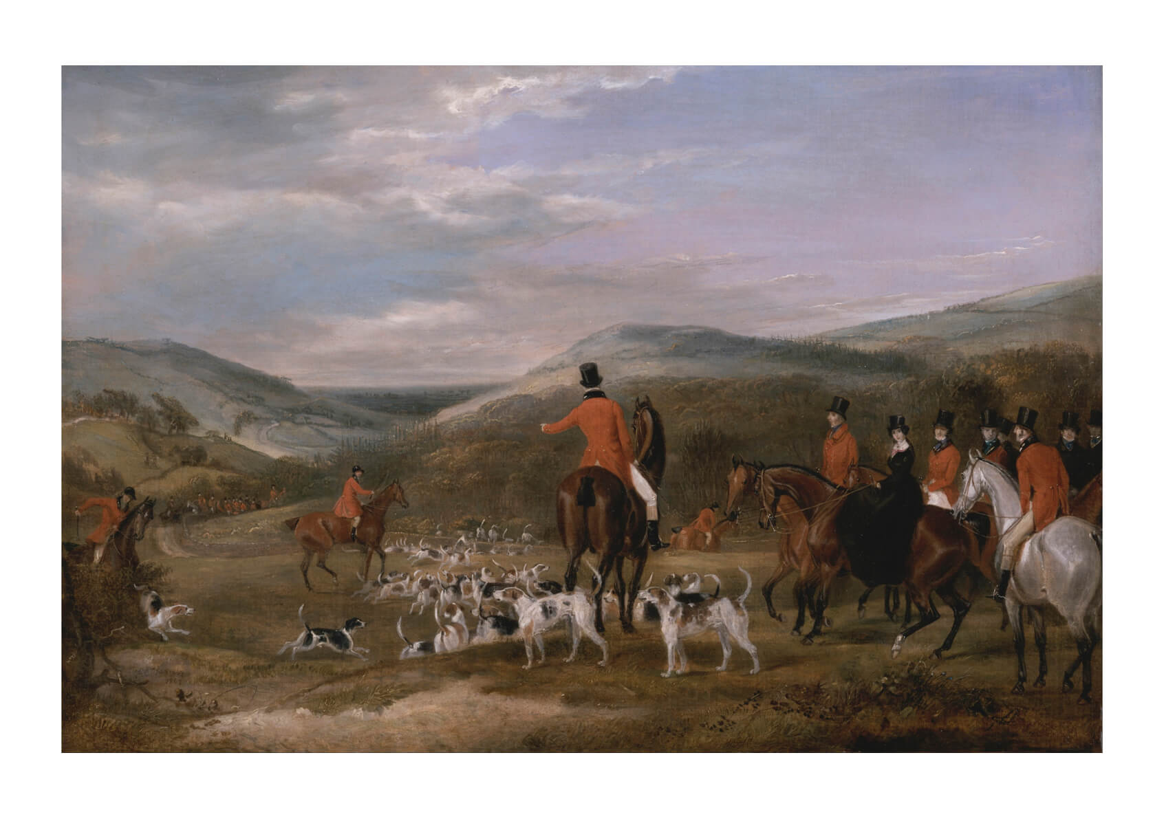 Francis Calcraft Turner - The Berkeley Hunt The Meet