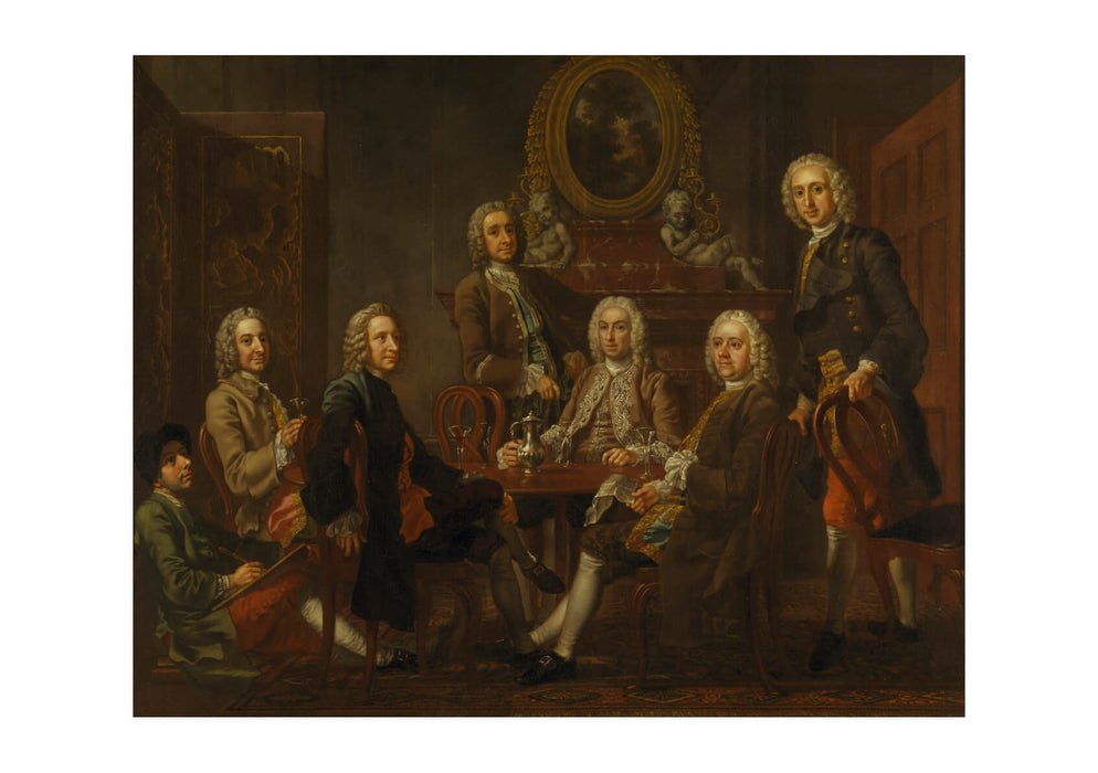 Francis Hayman - Portrait Of A Group Of Gentleman