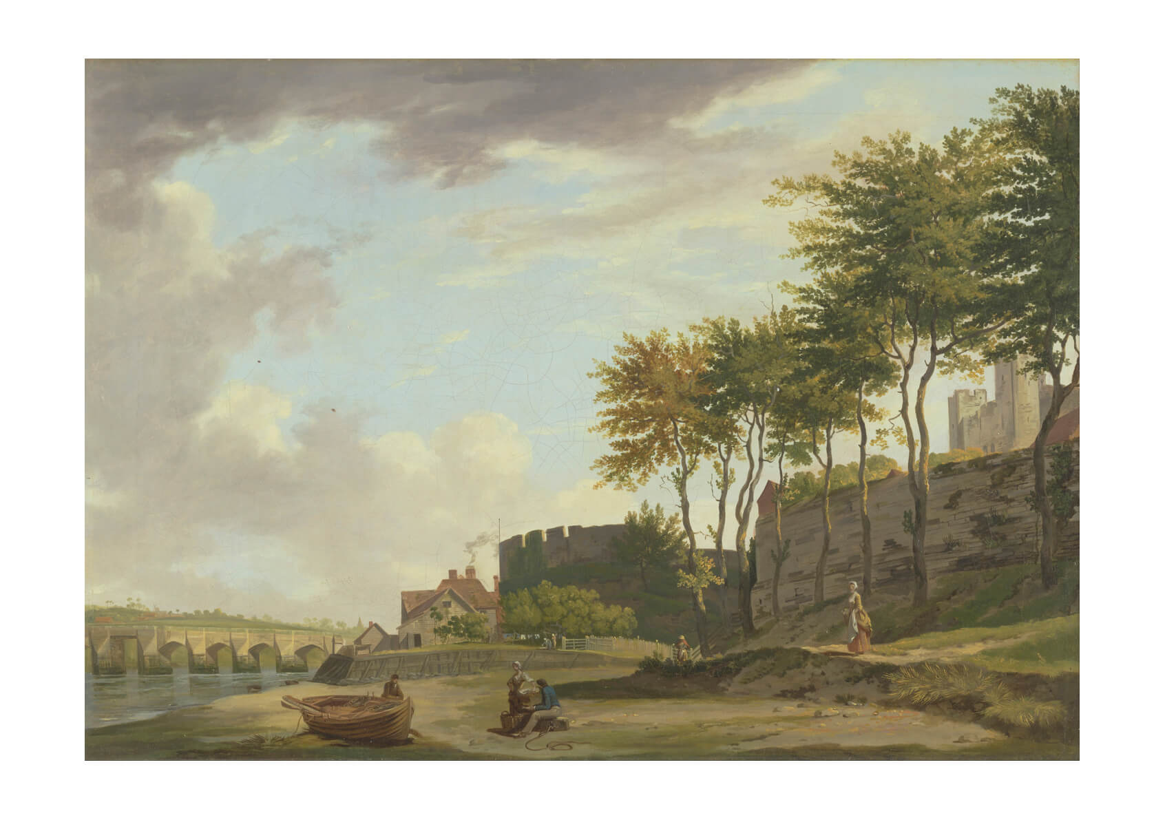 Francis Wheatley - The Medway At Rochester