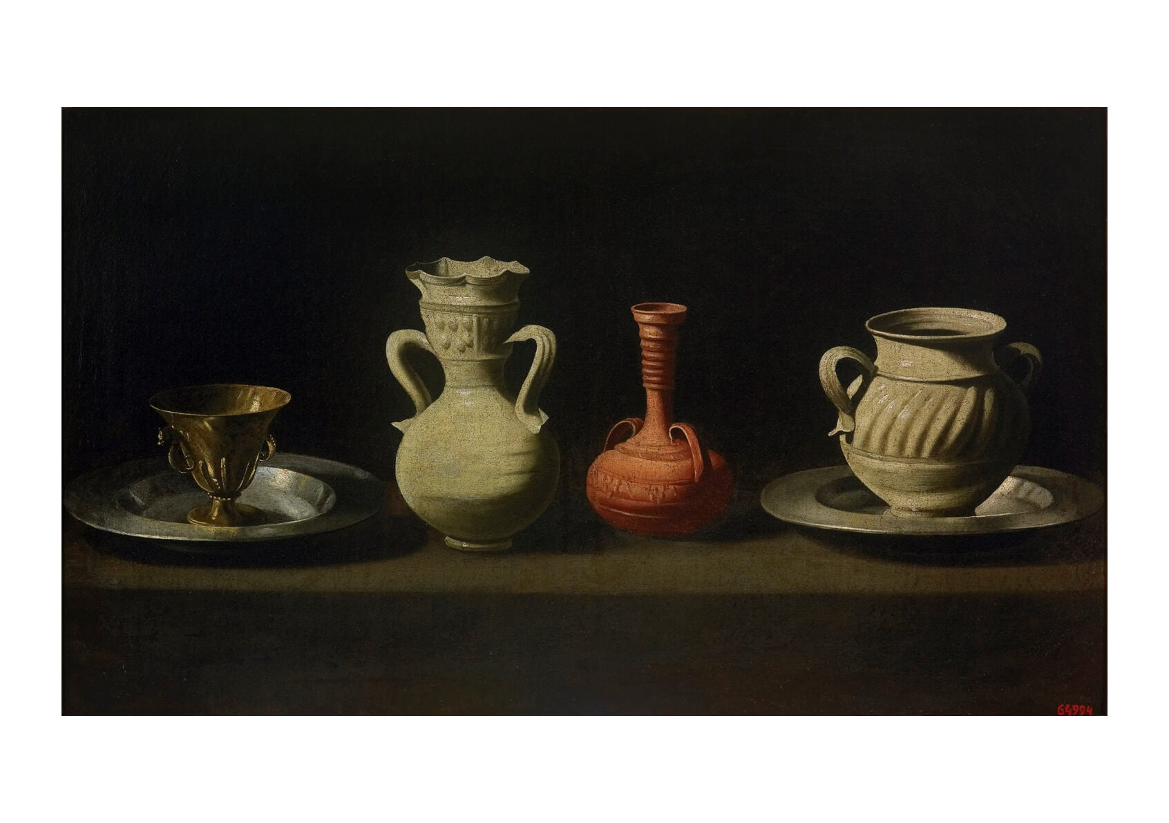 Francisco De Zurbarán - Still Life With Four Vessels