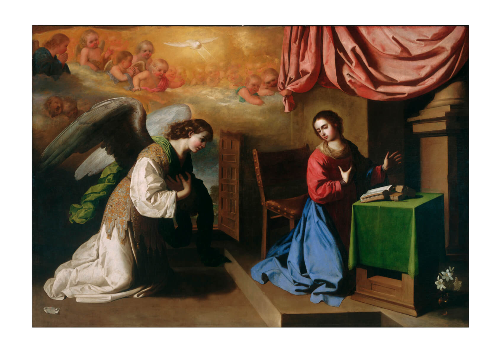 Francisco De Zurbarán Spanish - The Annunciation