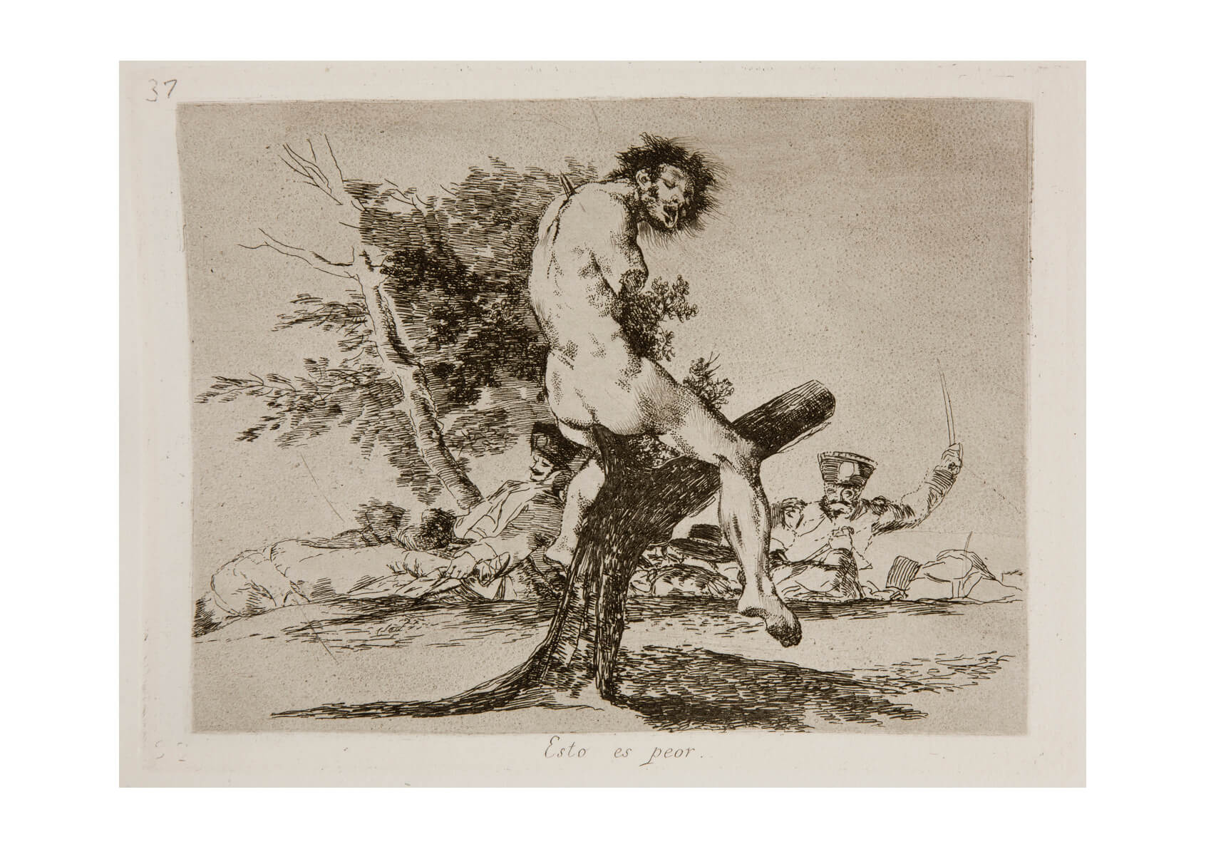 Francisco de Goya - Disasters of War Left in a Tree