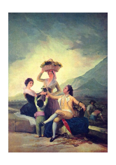 Francisco de Goya - The Wine Harvest Cartoon for a Tapestry 1786-1788