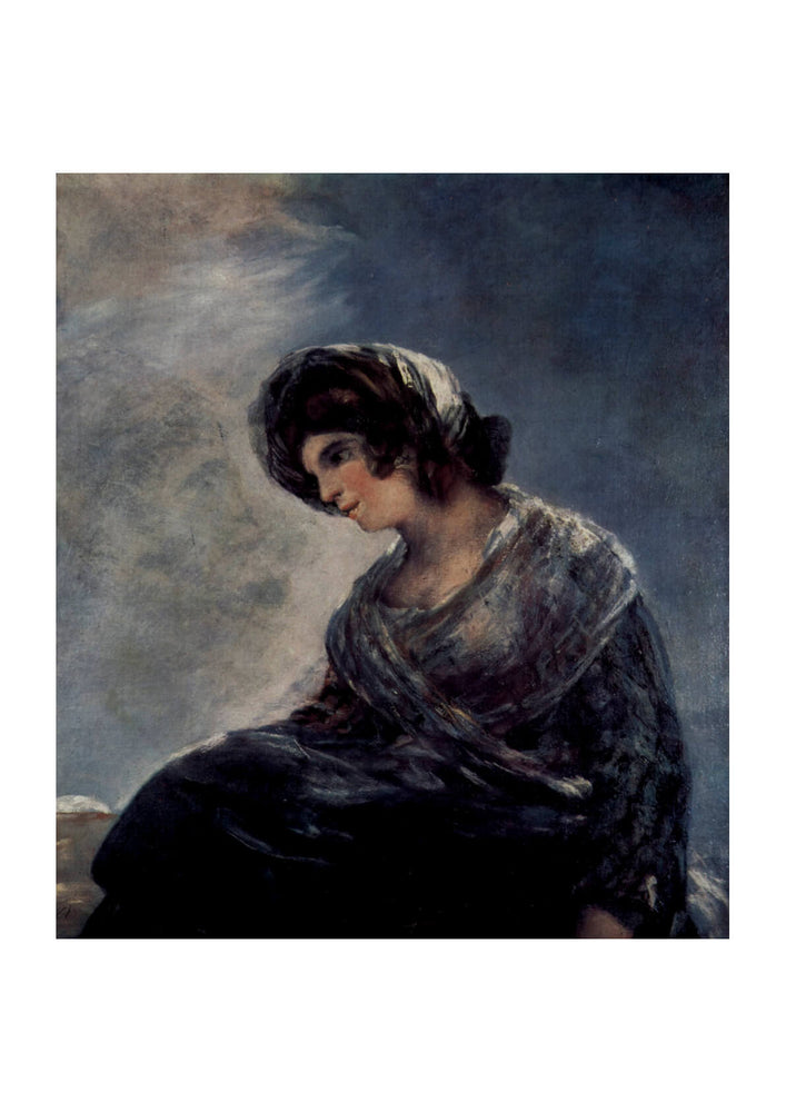 Francisco de Goya - Woman looking Down