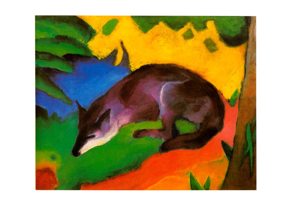 Franz Marc - Blue Black Fox