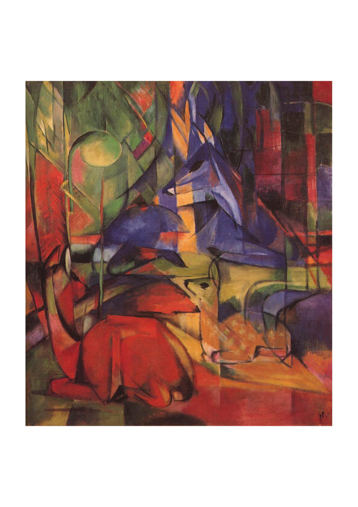 Franz Marc - Deer In A Forest