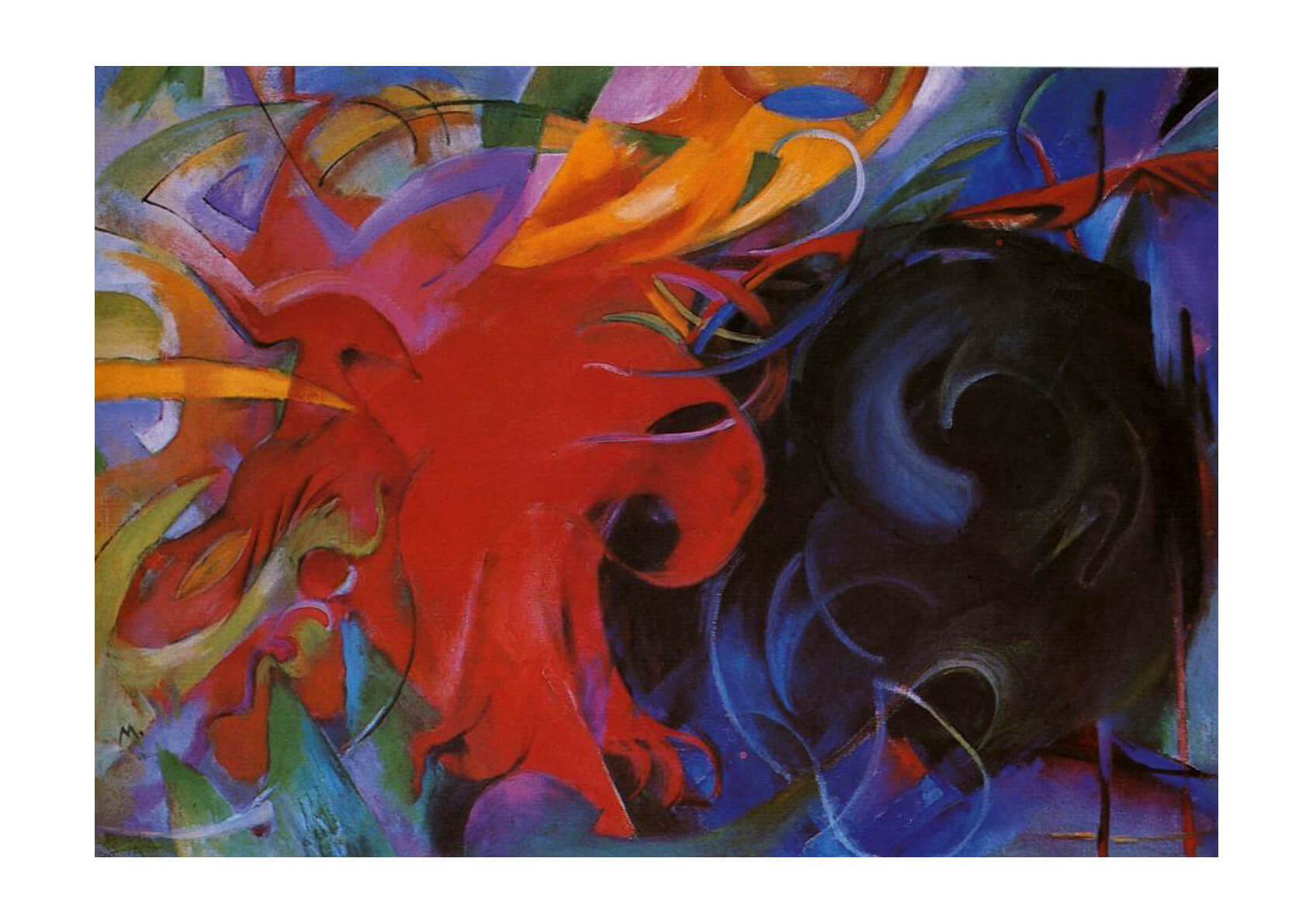 Franz Marc Forms in Combat