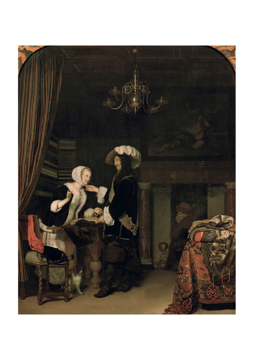Franz Van Mieris The Elder - Cavalier In The Shop