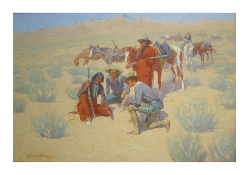 Frederic Remington - A Map in the Sand
