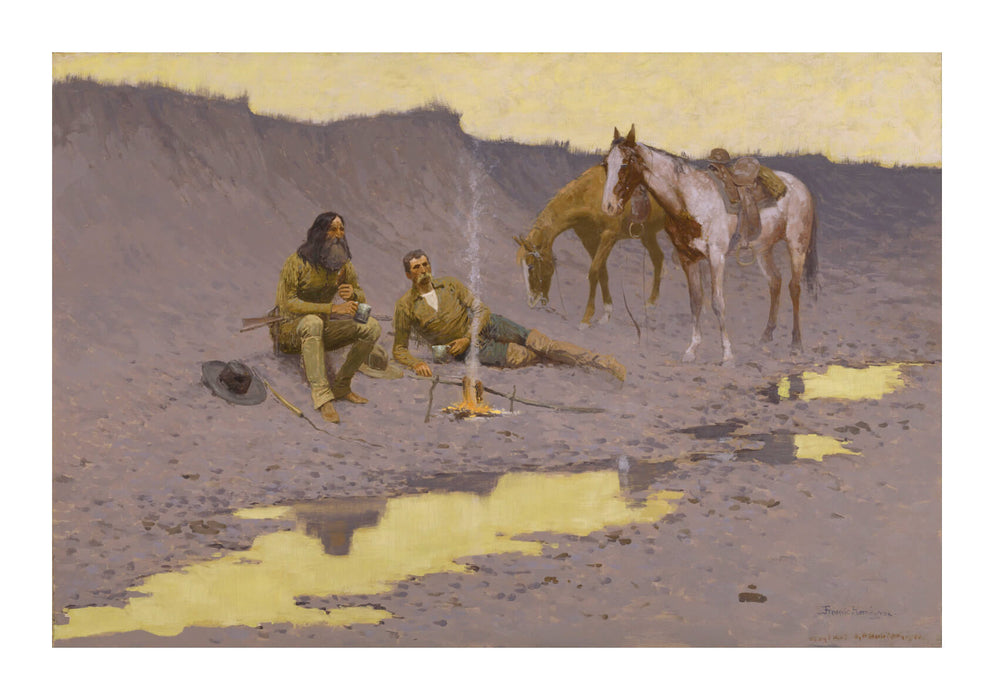 Frederic Remington - A New Year on the Cimarron