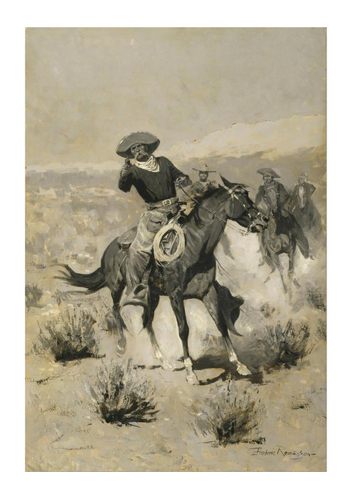 Frederic Remington - Days on the Range Hands Up