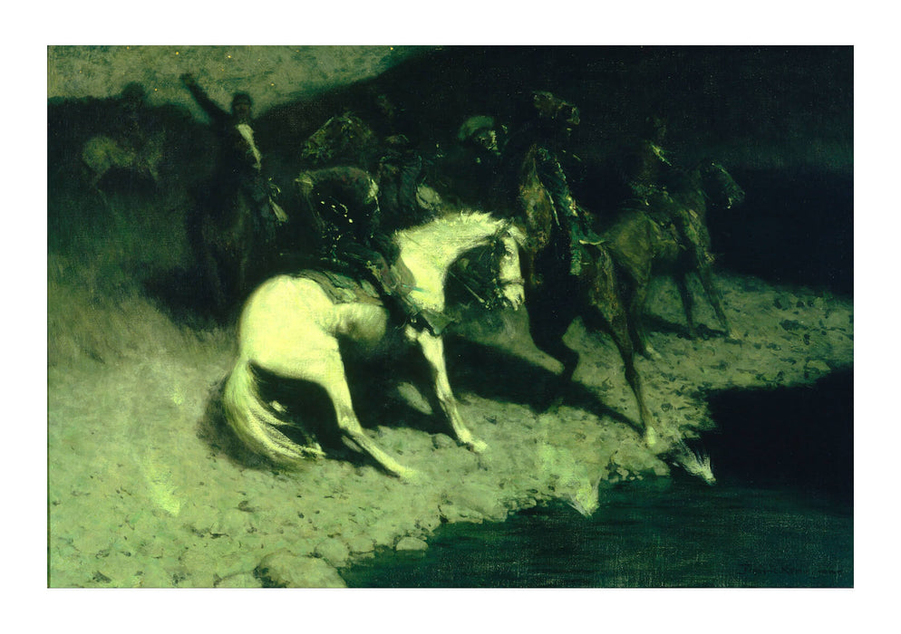 Frederic Remington - Fired On