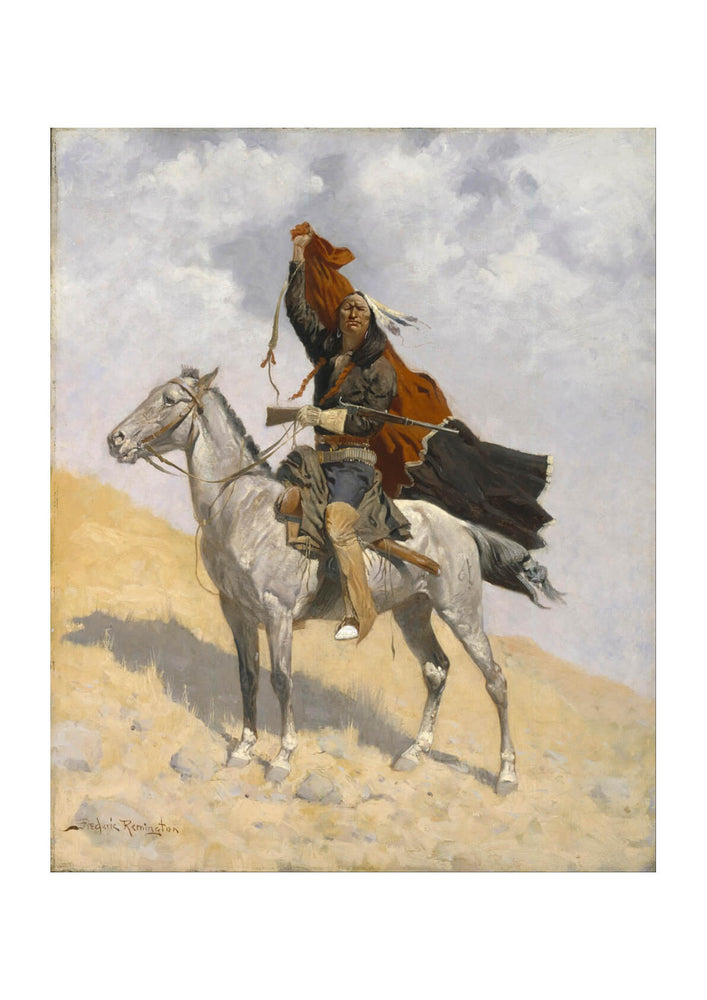 Frederic Remington - The Blanket Signal