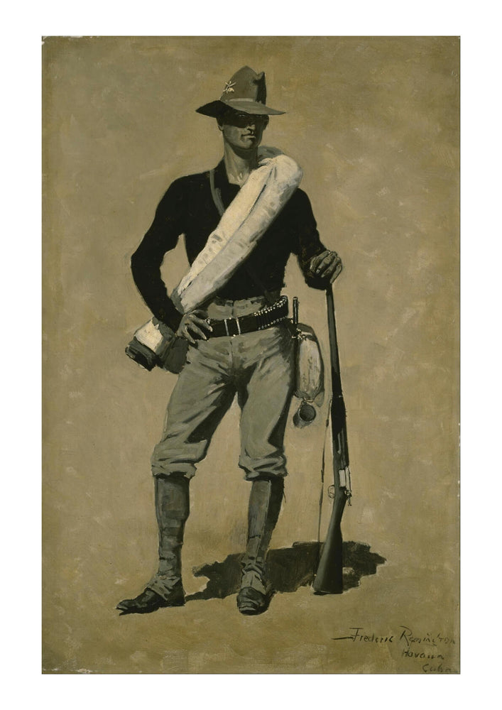 Frederic Remington - U. S. Soldier Spanish American War