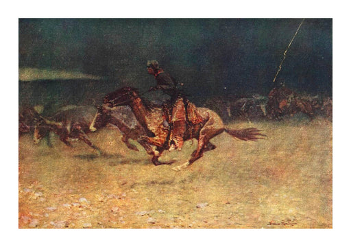 Frederic Remington Stampede by Lightning