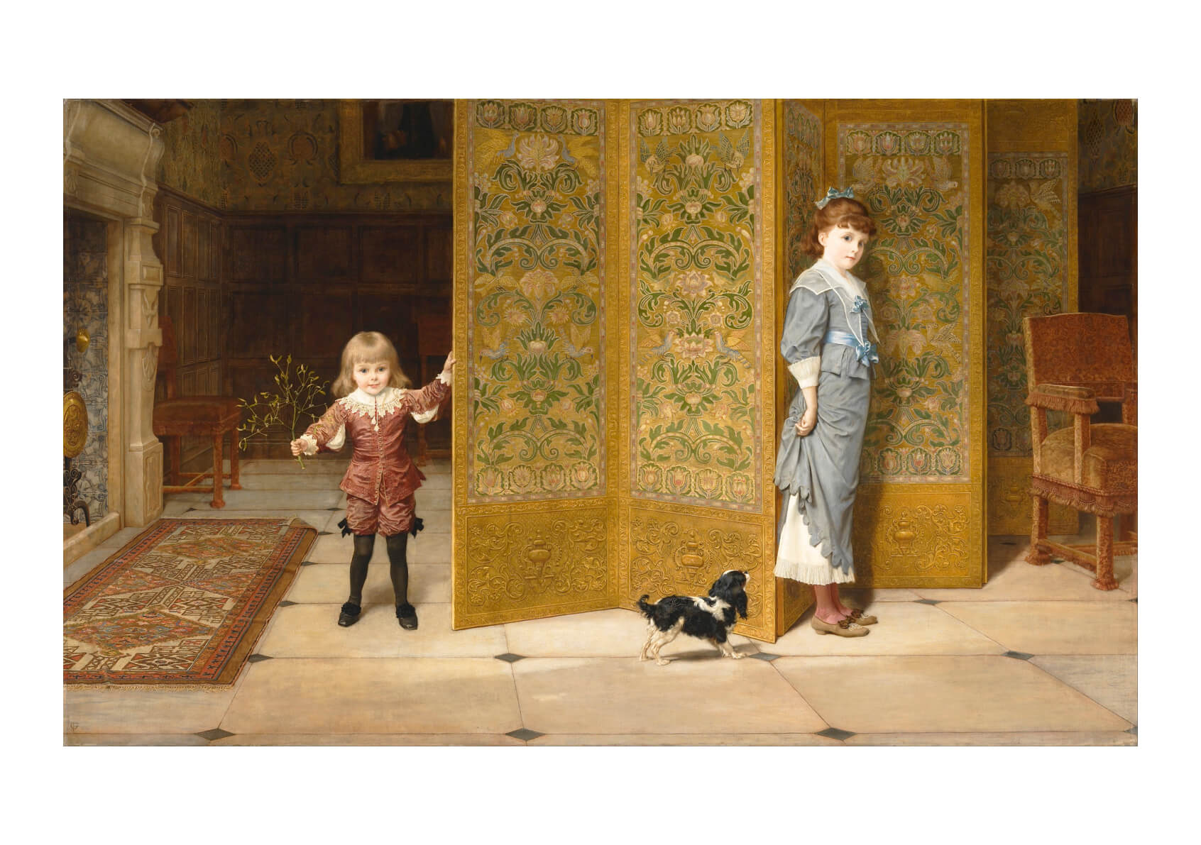 Frederick Goodall - Puritan And Cavalier