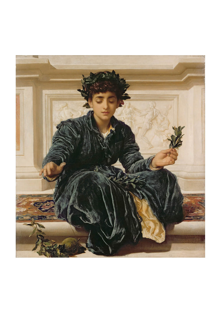 Frederick Leighton - Weaving the Wreath