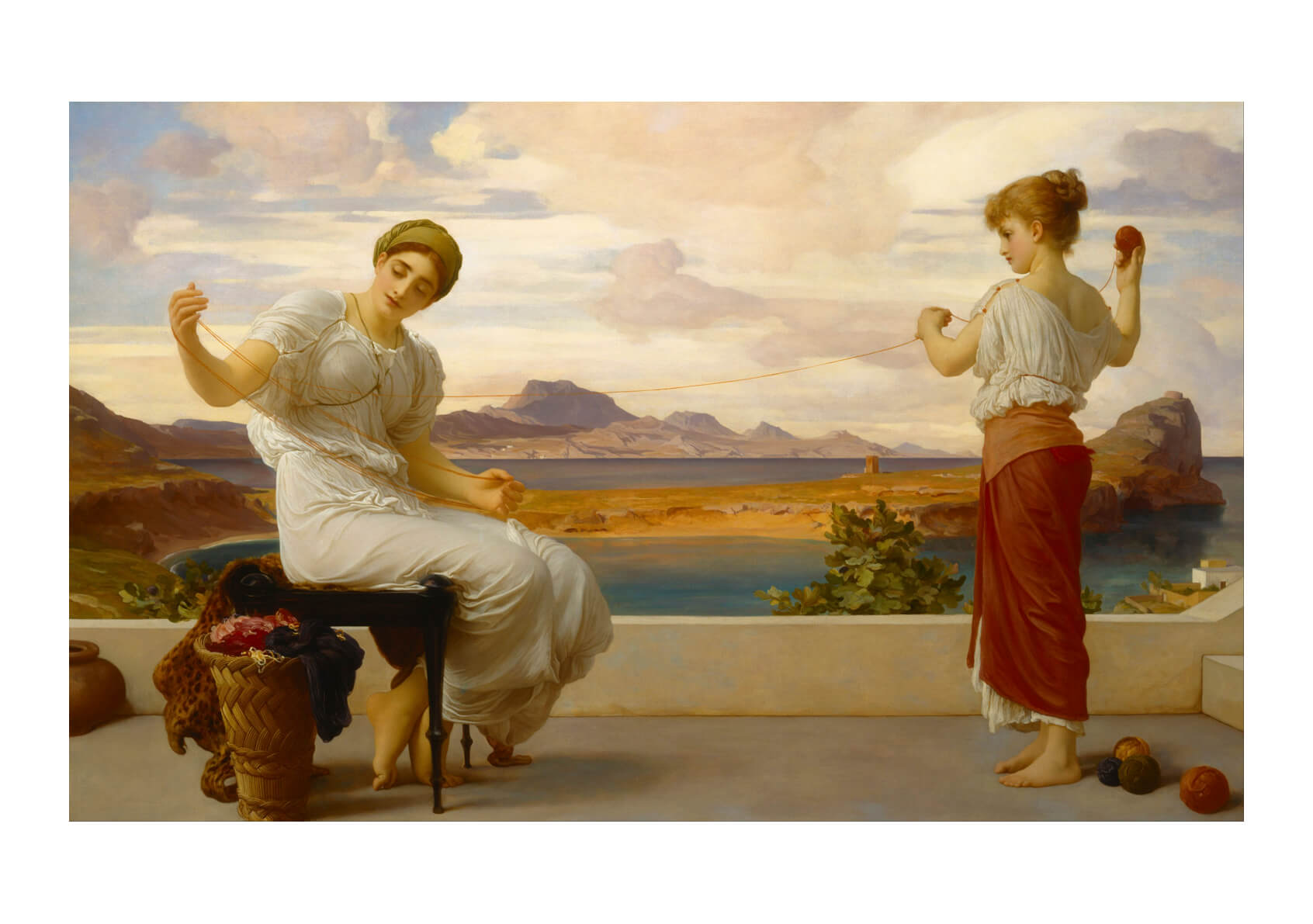 Frederick Leighton - Winding the skein