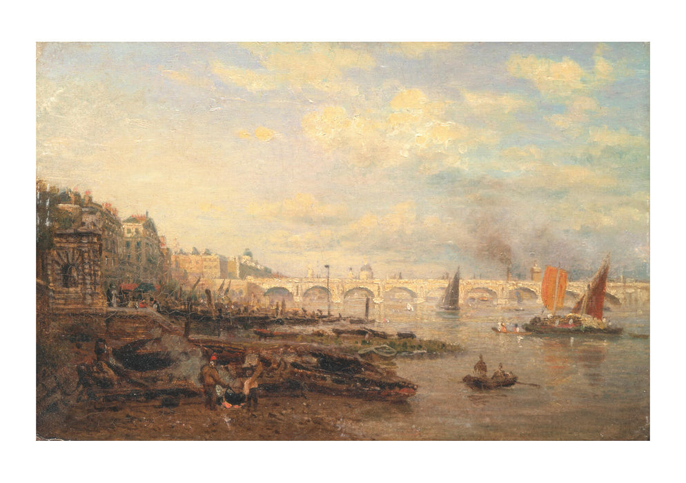 Frederick Nash - Thames & Waterloo Bridge
