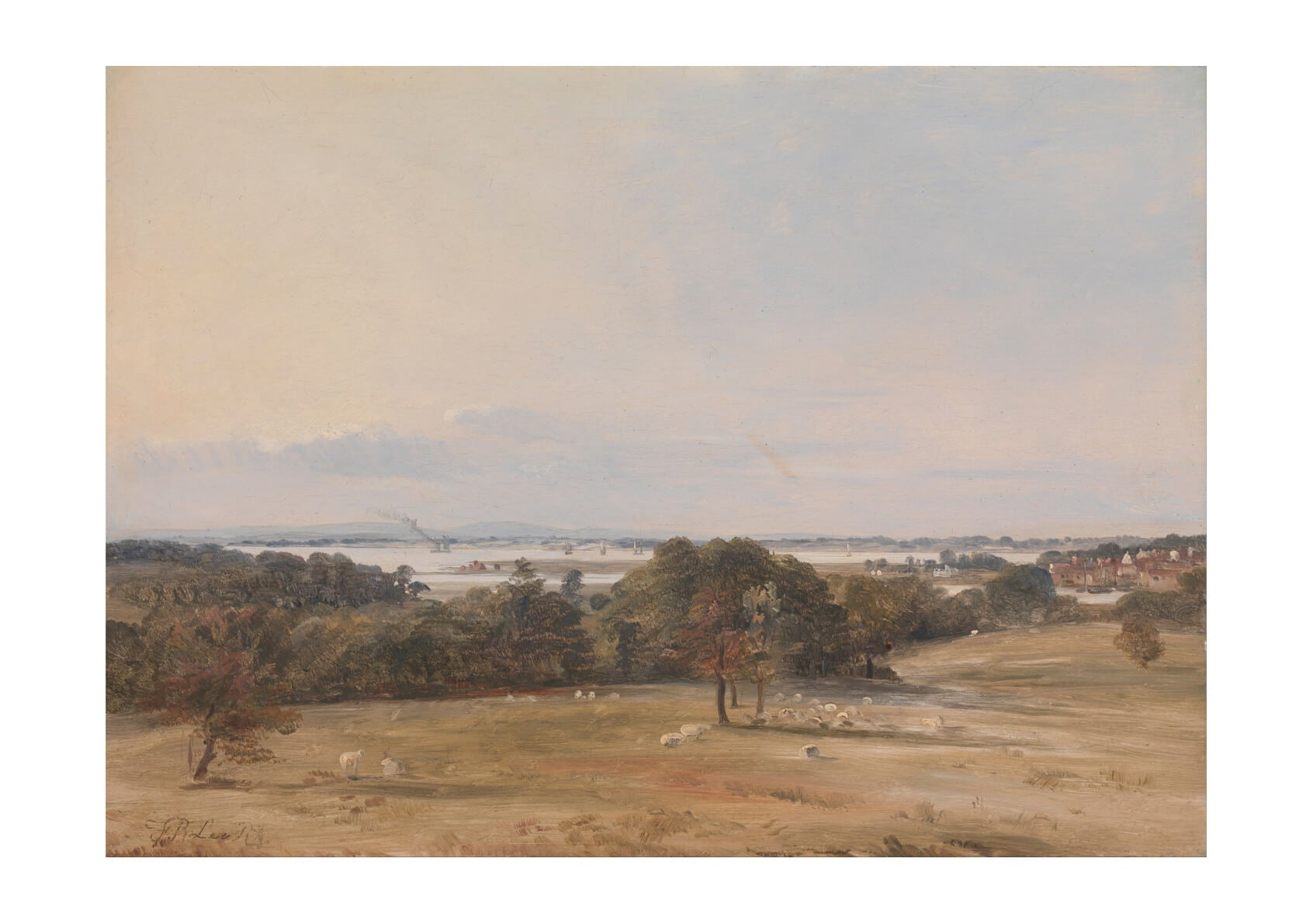 Frederick Richard Lee - Southampton Water Near Hamble