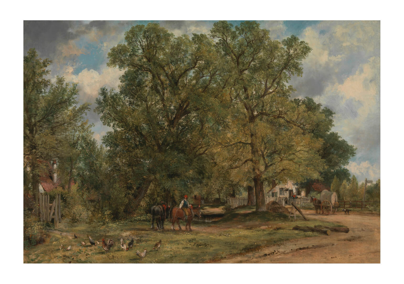 Frederick W. Watts - Landscape With Cottages