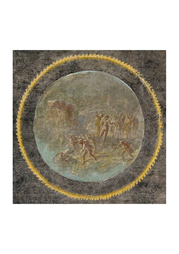Fresco Fragment With Herakles And Hesione