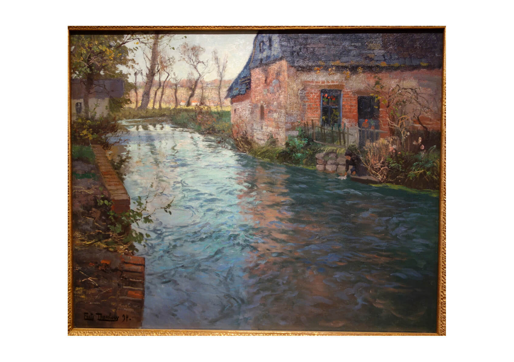 Frits Thaulow - The River in Normandy