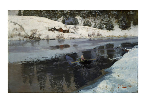 Frits Thaulow - Winter at the River Simoa