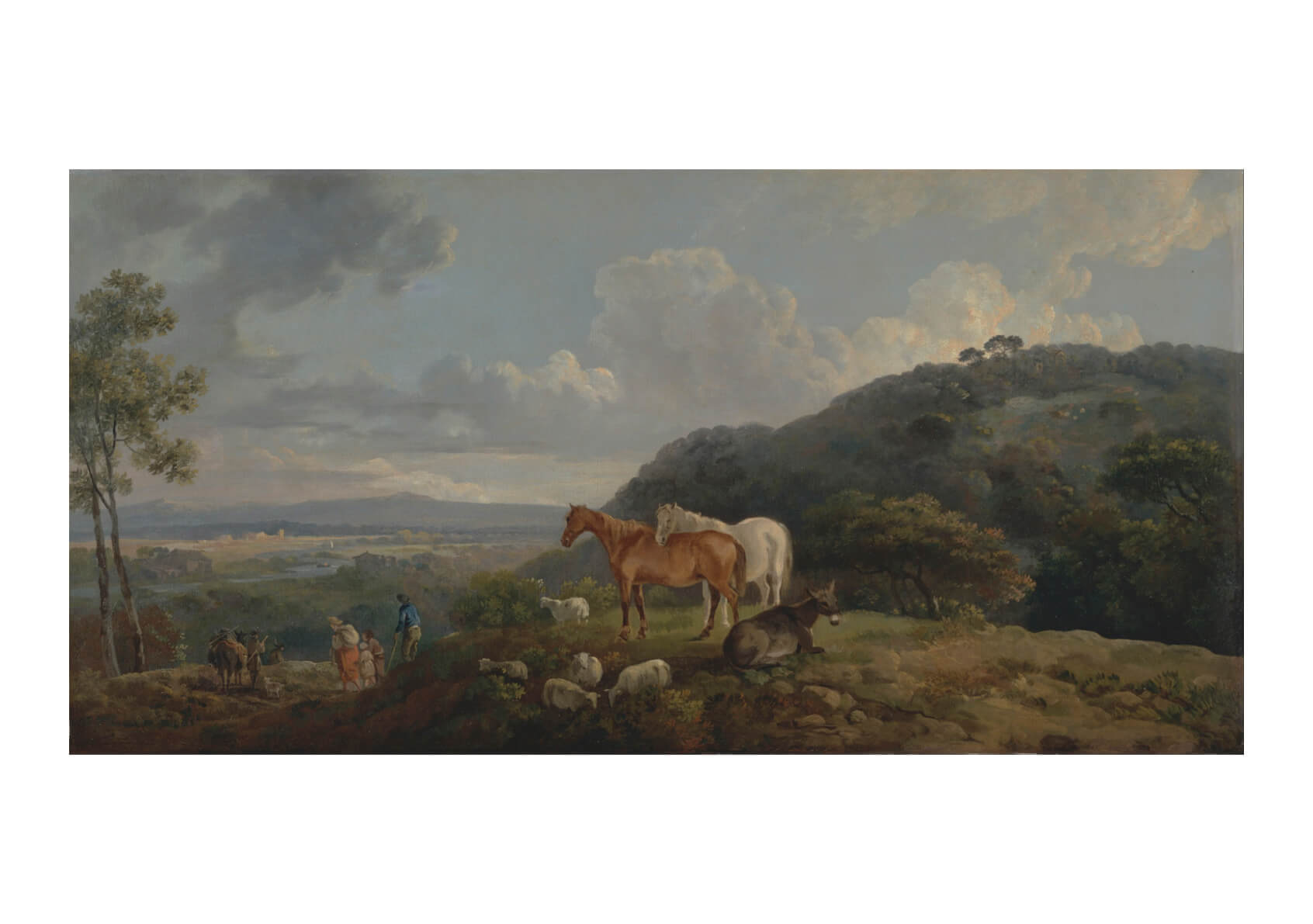 George Barret - Morning- Landscape With Mares And Sheep