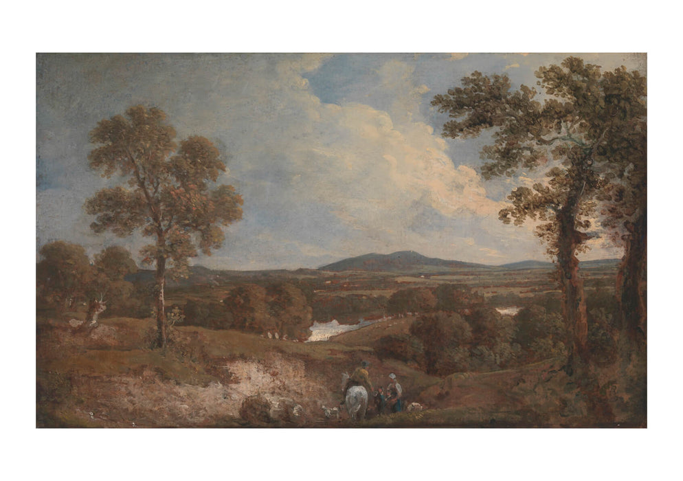 George Beaumont - Landscape With Figures In Foreground