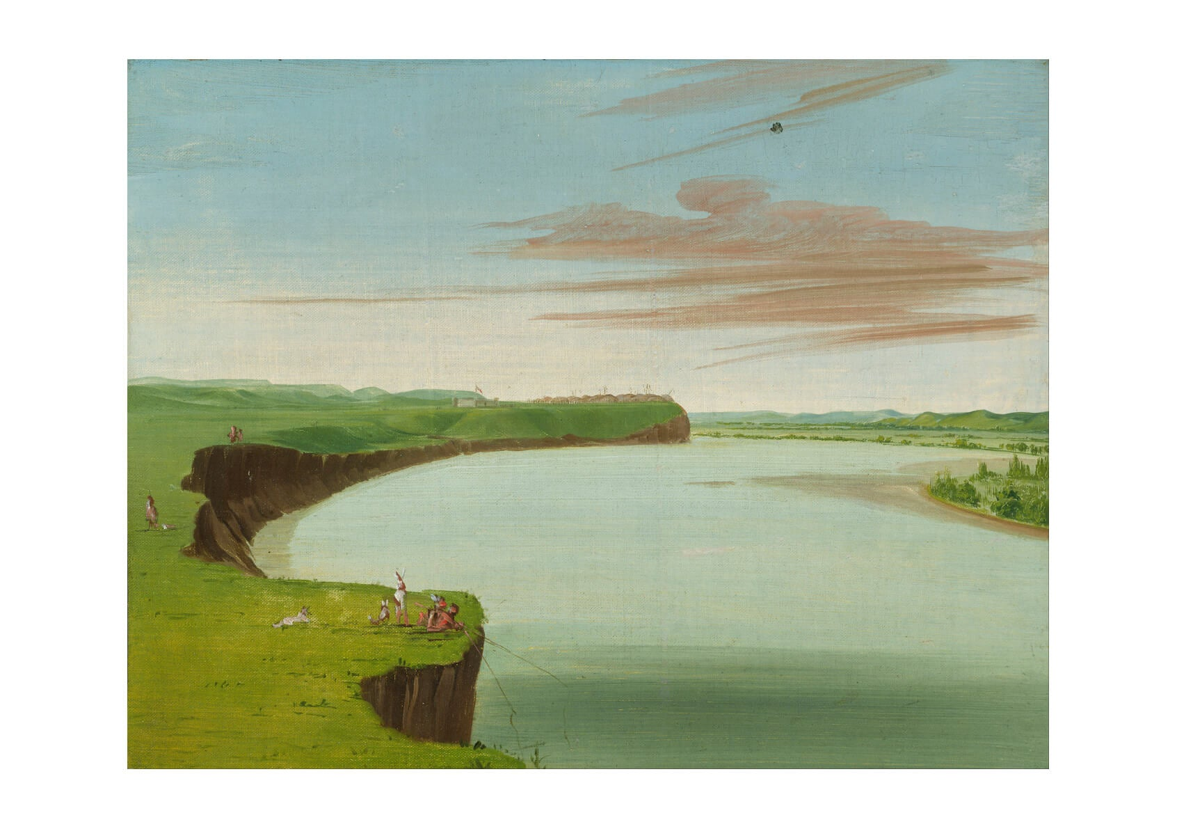 George Catlin - Distant View Of The Mandan Village