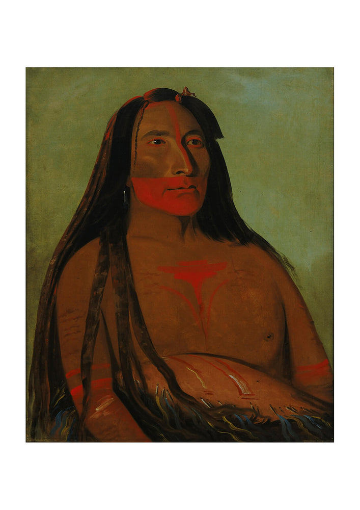 George Catlin - Four Bears Second Chief In Mourning