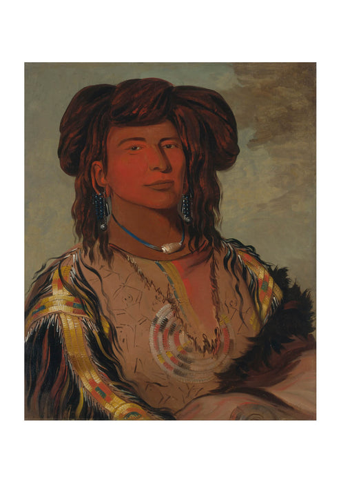 George Catlin - One Horn Head Chief Of Miniconjou