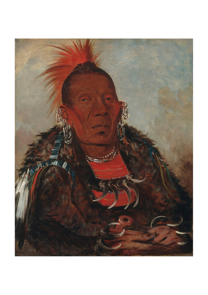 George Catlin - Wah-Ro-Née-Sah Surrounder Chief Of Tribe