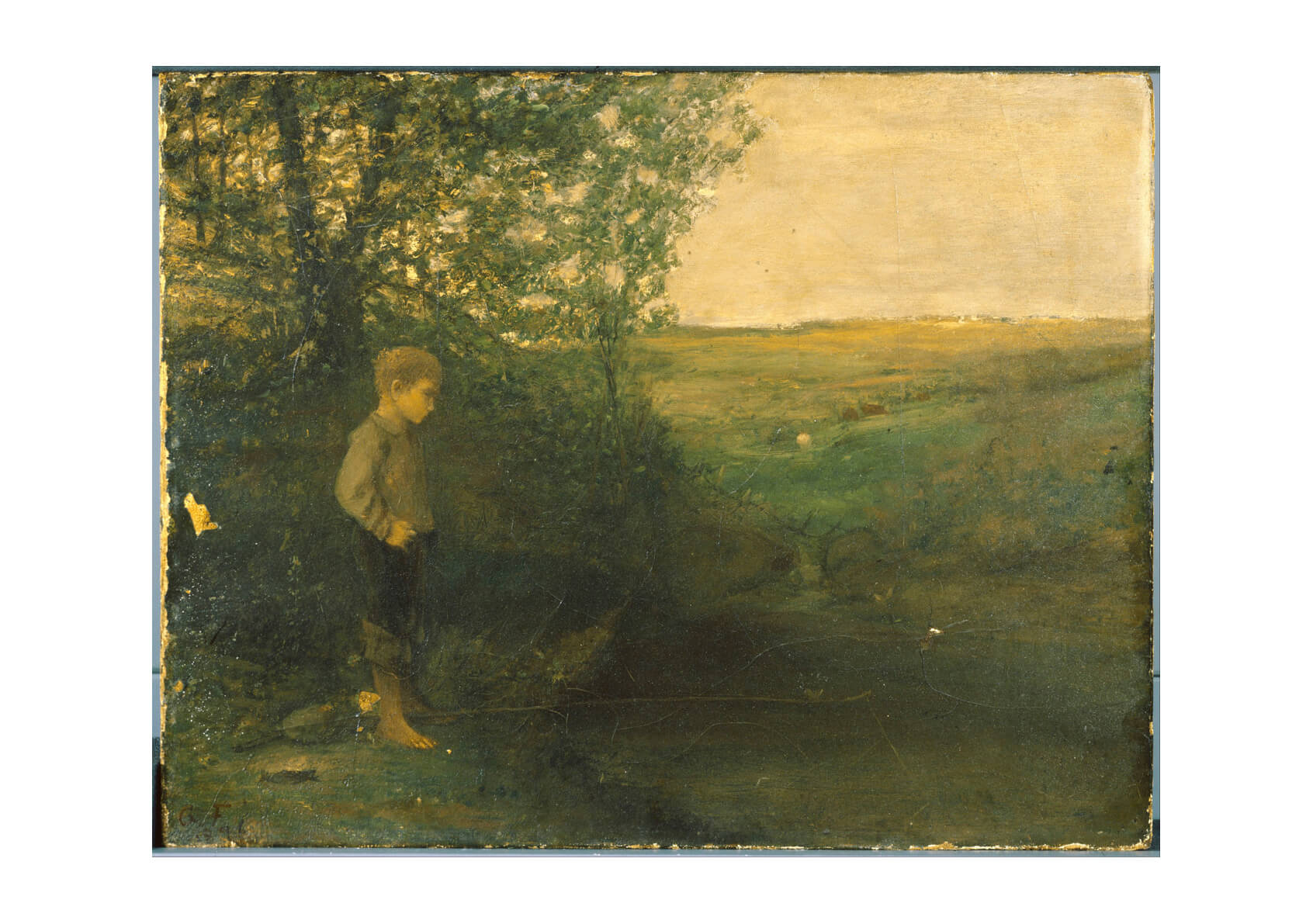 George Fuller - Boy Fishing