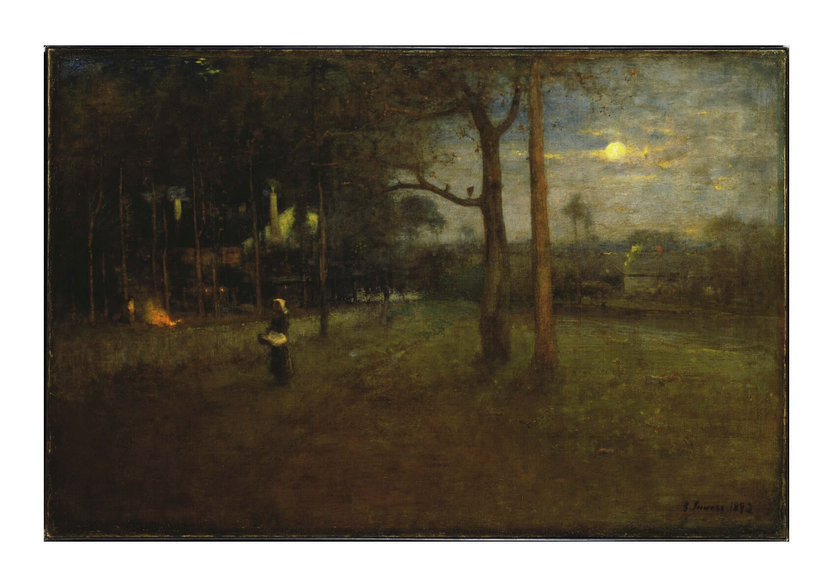 George Inness - Moonlight Tarpon Springs