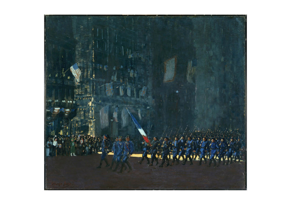 George Luks Blue Devils on Fifth Avenue
