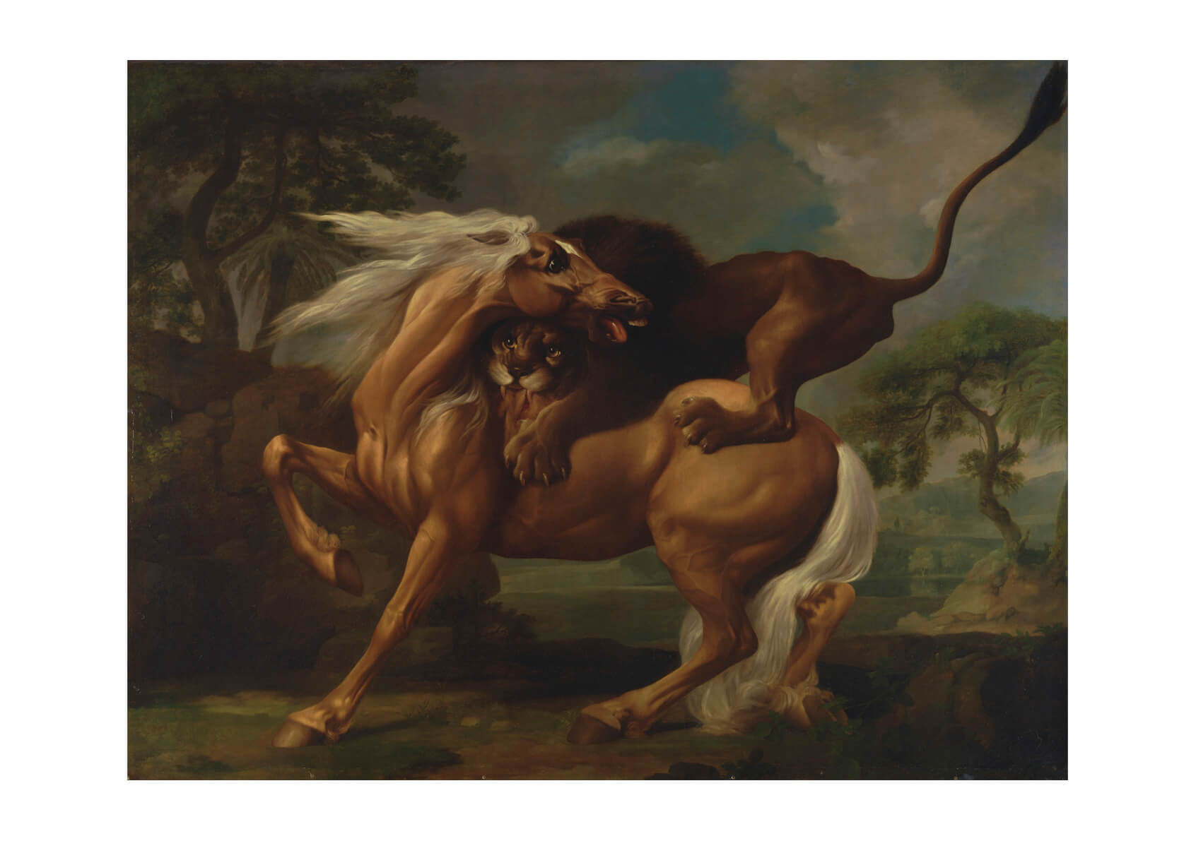 George Stubbs - A Lion Attacking a Horse-2
